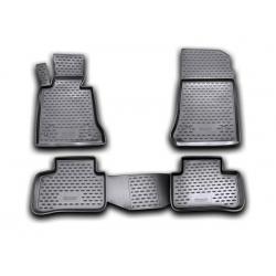 Poliuretaniniai kilimėliai MERCEDES-BENZ GLK-Klasė (X204) 2008-2013 (Juodi, Pakeltais kraštais)
