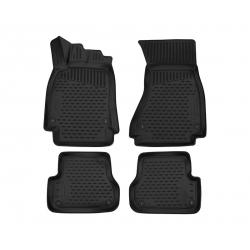 Poliuretaniniai kilimėliai AUDI A6 (C7) Sedan 2011-2018 (Juodi, Pakeltais kraštais)