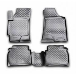 Poliuretaniniai kilimėliai CHRYSLER 300C 2012→ (Juodi, Pakeltais kraštais)