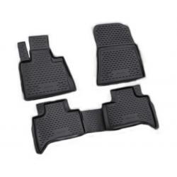 Poliuretaniniai kilimėliai BMW X5 (E53) 1999-2006 (Juodi, Pakeltais kraštais)