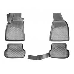 Poliuretaniniai kilimėliai AUDI A4 (B6) 2001-2007 (Grafitiniai, Pakeltais kraštais)