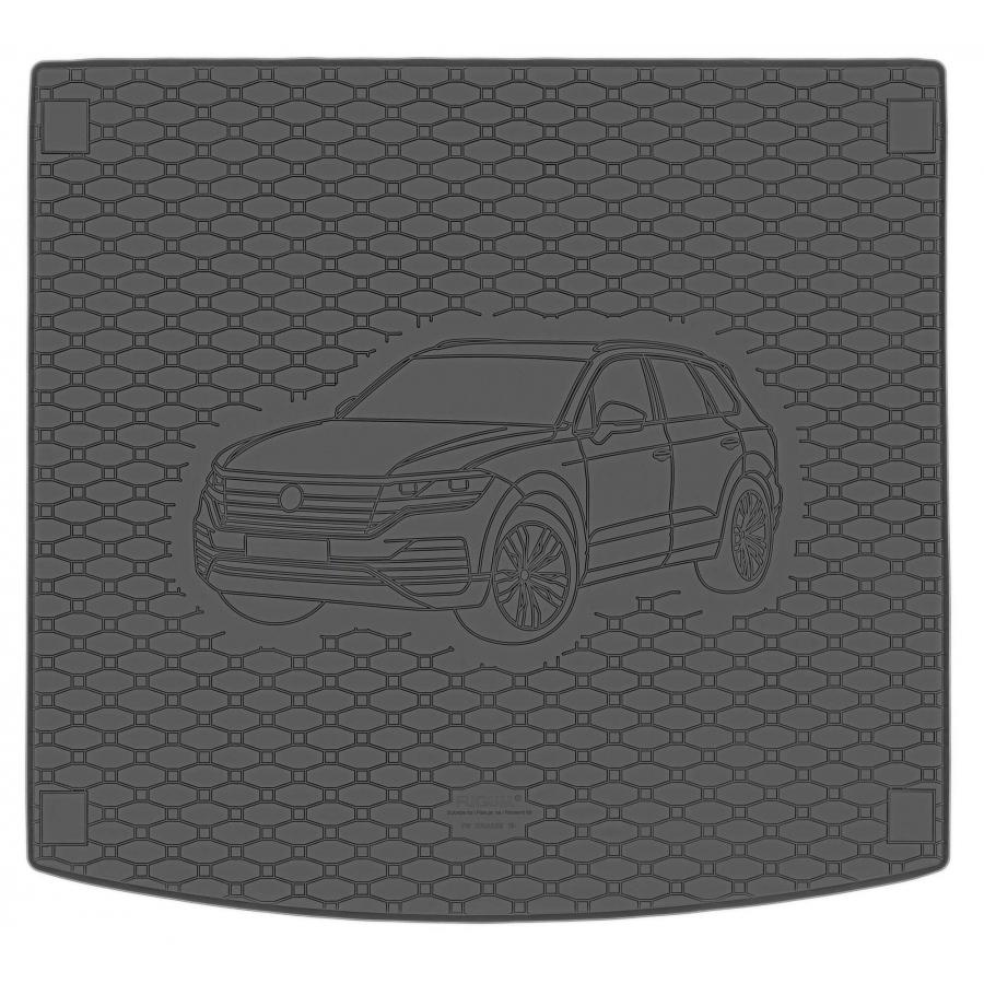 Guminis bagažinės kilimėlis VOLKSWAGEN Touareg 2018→ (Standartiniais kraštais)