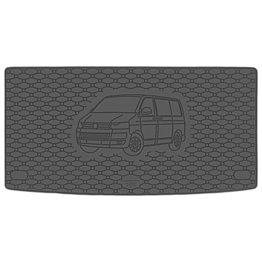 Guminis bagažinės kilimėlis VOLKSWAGEN Transporter T5 (L1) 2003-2015 (Standartiniais kraštais)