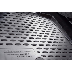 Guminiai kilimėliai HONDA HR-V 2015→ (Pilkos spalvos, Pakeltais kraštais)