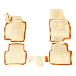 3D kilimėliai SKODA Kamiq 2019->, 4 pcs. beige /L57014B0