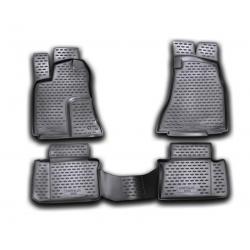 Poliuretaniniai kilimėliai CHRYSLER 300C 2004-2012 (Juodi, Pakeltais kraštais)